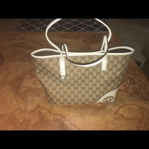gucci monogram new britt tote
